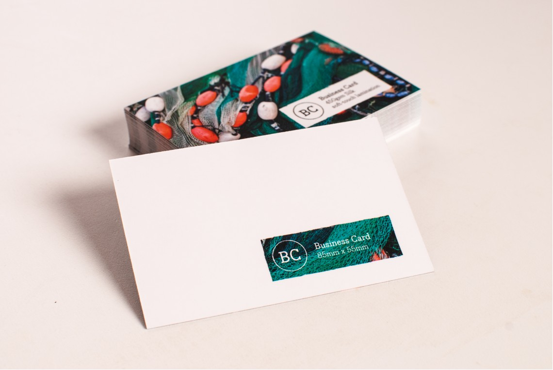 Standard Single Sided Business Cards (Gloss Lamination)