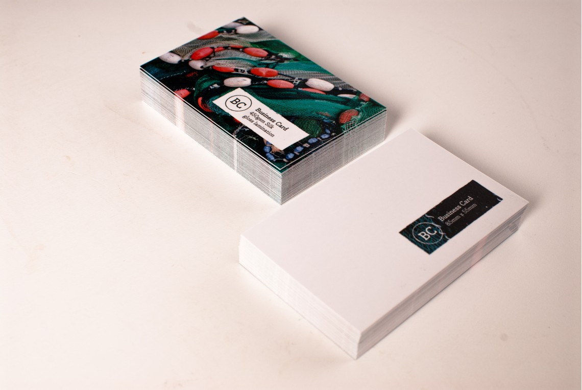 Standard Single Sided Business Cards (Soft-Touch Lamination)